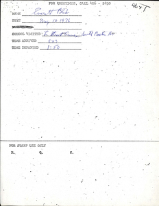 Citywide Coordinating Council daily monitoring report for South Boston High School's L Street Annex by Everett Blake, 1976 May 10