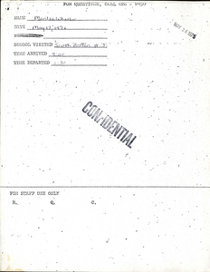 Citywide Coordinating Council daily monitoring report for South Boston High School by Marilee Wheeler, 1976 May 17
