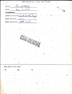 Citywide Coordinating Council daily monitoring report for South Boston High School by Everett Blake, 1976 May 19