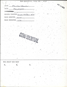 Citywide Coordinating Council daily monitoring report for South Boston High School by Marilee Wheeler, 1976 May 20