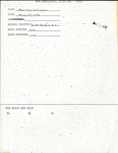 Citywide Coordinating Council daily monitoring report for South Boston High School by Marilee Wheeler, 1976 May 25