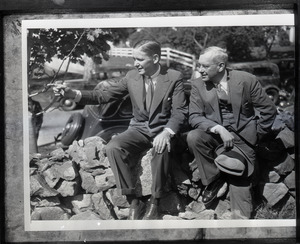 Alf Landon (right) and Robert Choate