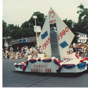 Plainville Historical Commission float in the Town of Plainville 75th Anniversary Diamond Jubilee parade