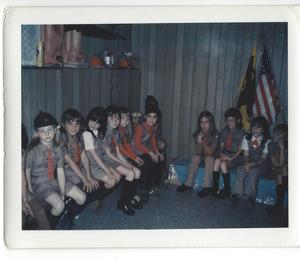 Brownie Troop 615 taken November 1973.