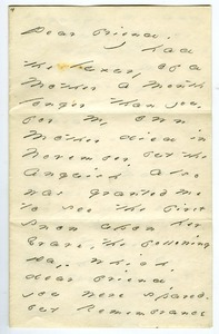 Emily Dickinson letter to Mrs. James C. (Jeanie) Greenough