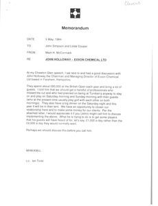 Fax from Mark H. McCormack to John Simpson and Linda Cooper