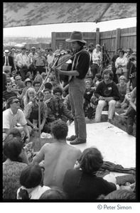 Arlo Guthrie performing at the Newport Folk Festival