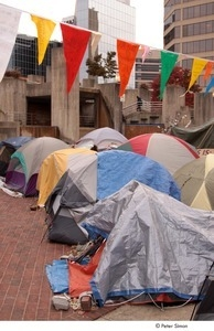Occupy Baltimore: tents in occupy encampment