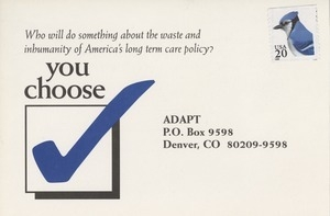 You choose postcard