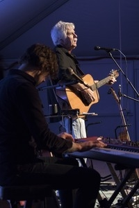 Matt Nakoa (keyboards) and Tom Rush (guitar) performing in concert at the Payomet Performing Arts Center