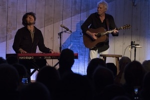 Tom Rush (guitar) and Matt Nakoa (keyboards) in concert at the Payomet Performing Arts Center