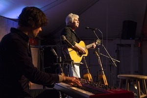 Matt Nakoa (keyboards) and Tom Rush (acoustic guitar) performing in concert at the Payomet Performing Arts Center