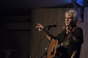 Tom Rush (acoustic guitar) performing in concert at the Payomet Performing Arts Center