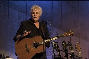 Tom Rush (guitar) talking between songs in concert at the Payomet Performing Arts Center