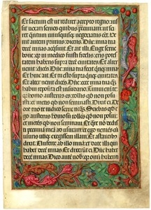 Lectionary with reading from Luke 19 [manuscript leaf]