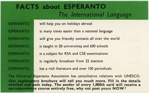 Facts about Esperanto