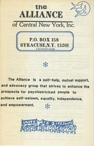 Alliance of Central New York, Inc.