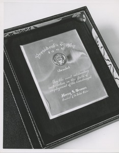 The 1951 president's trophy in its box