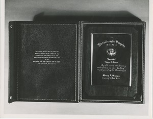The 1951 president's trophy awarded to George E. Barr in its box