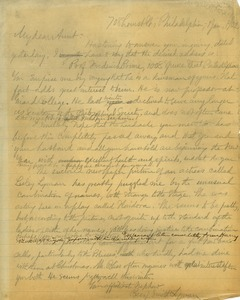 Letter from Benjamin Smith Lyman to Susan Inches Lesley