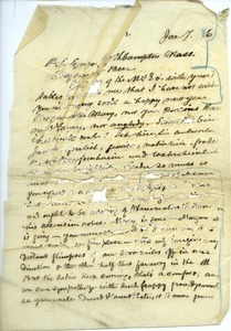 Letter from J. Peter Lesley to Benjamin Smith Lyman