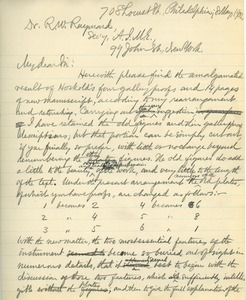 Letter from Benjamin Smith Lyman to Dr. Rossiter W. Raymond