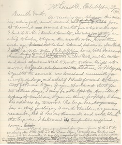 Letter from Benjamin Smith Lyman to A. D. W. Smith