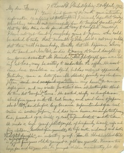 Letter from Benjamin Smith Lyman to Fanny Brewer