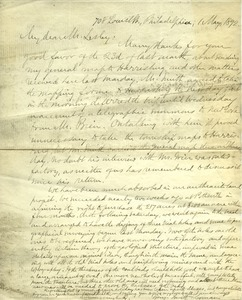 Letter from Benjamin Smith Lyman to J. Peter Lesley