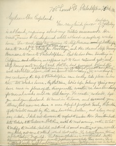 Letter from Benjamin Smith Lyman to Mrs. Copeland