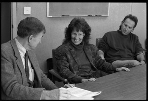 Mimi Silbert at a panel discussion, UMass Amherst