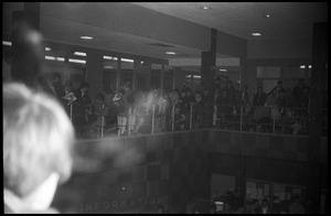 Protest against Dow Chemical Co. and the war in Vietnam at the Student Union, UMass Amherst
