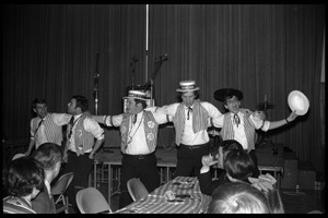 Winter Carnival: Your Father's Mustache singing waiters performing at the Student Union, UMass Amherst
