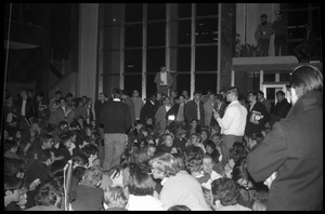 Sit-in protesting Dow Chemical Co. and the war in Vietnam, Student Union, UMass Amherst