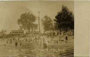 Bathing beach, Lake Rohunta, Athol, Mass.