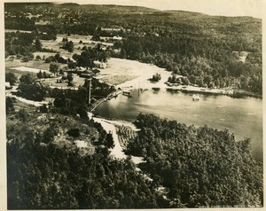 Aerial view of Lake Rohunta and the Rohunta Inn