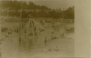 Beach sports, Lake Rohunta, Athol, Orange, Mass.