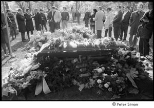 Jack Kerouac's funeral: view of casket at the cemetery
