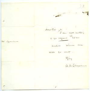 Letter from Amos Adams Lawrence to Joseph Lyman