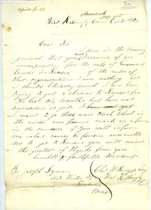 Letter from Charles W. Burgess to Joseph Lyman