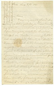 Letter from Henry R. Hinckley to Benjamin Smith Lyman