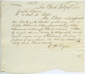 Letter from C. H. Ogden to Joseph Lyman