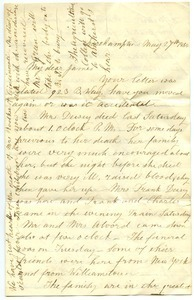 Letter from Almira Smith Lyman to James Fowler Lyman