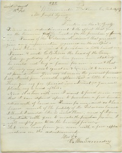 Letter from C. M. Sanders to Joseph Lyman