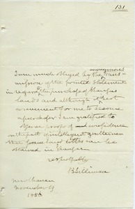 Letter from B. Silliman to unidentified correspondent