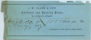 J. W. Clark and Co. to Joseph Lyman