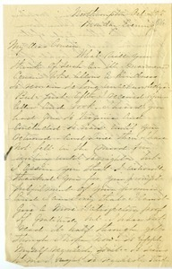 Letter from Fanny Brewer to Benjamin Smith Lyman