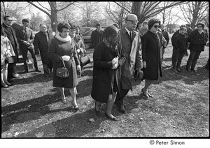 Jack Kerouac's funeral: mourners approaching grave site