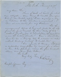 Letter from Charles S. Farley to Joseph Lyman