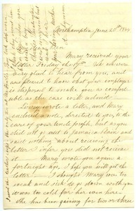 Letter from Almira Smith Lyman to Benjamin Smith Lyman